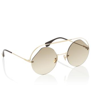 Ribbons & Crystals round-frame sunglasses FENDI
