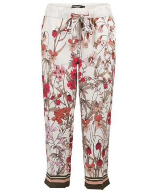 Colette cropped floral wide-leg trousers CAMBIO