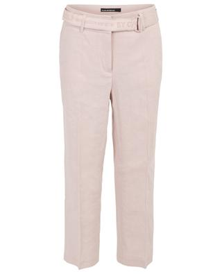 Claire linen blend straight trousers CAMBIO