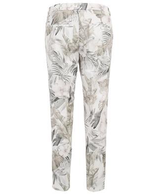 Pantalon chino slim fleuri Stella CAMBIO