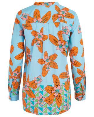 Bluse aus Seidenmix mit Blüten und Dreiecken HERZEN'S ANGELEHEIT
