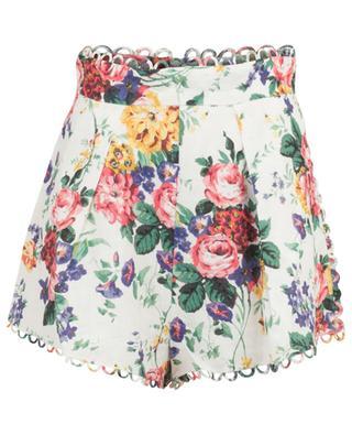 Allia floral linen shorts ZIMMERMANN
