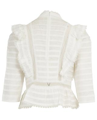 Allia linen and lace adorned blouse ZIMMERMANN