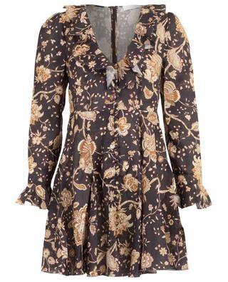 Veneto linen short floral dress ZIMMERMANN