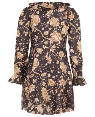 Robe courte fleurie en lin Veneto ZIMMERMANN