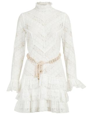 Veneto Perennial lace dress with shell belt ZIMMERMANN