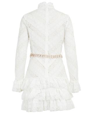 Veneto Perennial lace dress with shell belt ZIMMERMANN