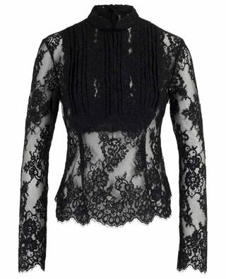 Sheer floral lace blouse ERMANNO SCERVINO