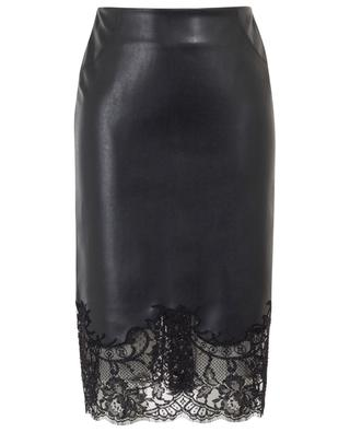 Faux leather pencil skirt with lace ERMANNO SCERVINO