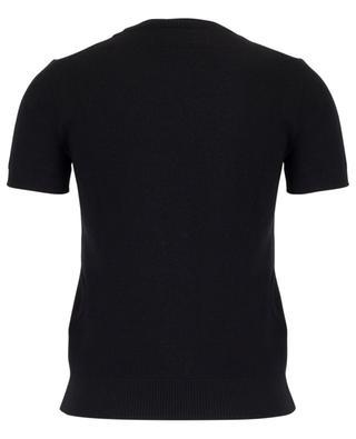 Kurzarm-Pullover mit Logoprint ERMANNO SCERVINO
