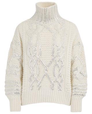 Thick sparkling cable knit jumper ERMANNO SCERVINO