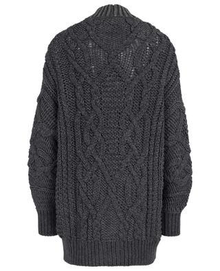 Cardigan torsadé en laine vierge avec strass ERMANNO SCERVINO