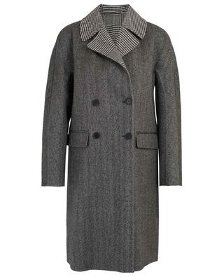 Lightweight chevron and houndstooth check coat ERMANNO SCERVINO