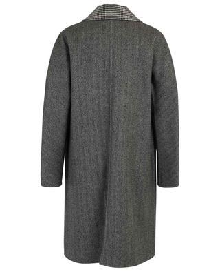Manteau léger motifs chevrons et pied-de-poule ERMANNO SCERVINO