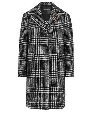 Manteau oversize macro-prince-de-galles avec broche ERMANNO SCERVINO