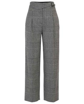 Glen check virgin wool tailored trousers ERMANNO SCERVINO