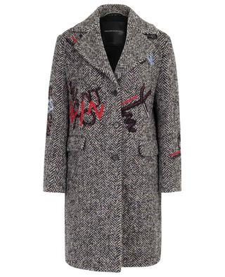 Embroidered three-quarter length coat ERMANNO SCERVINO