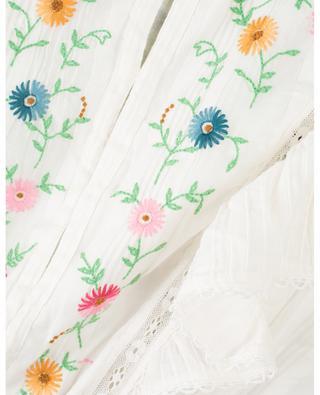 Blütenbesticktes Minikleid Romy Porter Cream LOVESHACKFANCY