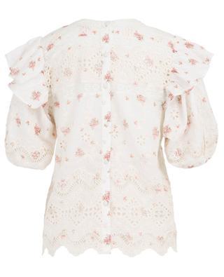 Besticktes Top mit Blütenprint Tilda LOVESHACKFANCY