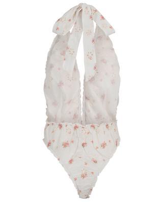 Body en coton fleuri Peony Suit LOVESHACKFANCY