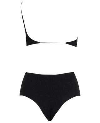 Lumière One-shoulder asymmetrical Lurex bikini OSEREE
