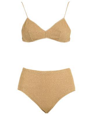 Lumière High-waisted Bra lurex bikini OSEREE