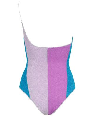 Asymmetrischer Lurex-Badeanzug Lumière One-shoulder OSEREE