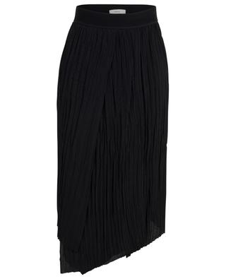 Asymmetrical crinkle pleat skirt VINCE