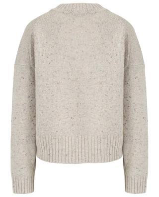 Thick mottled wool blend jumper VINCE