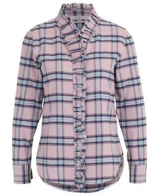 Awendy ruffled pastel check shirt ISABEL MARANT