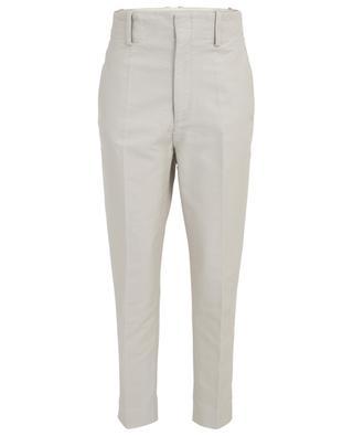 Goah straight fit high-rise gabardine trousers ISABEL MARANT