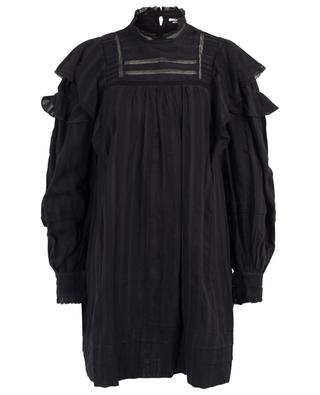 Patsy ruffle and lace adorned short A-line dress ISABEL MARANT