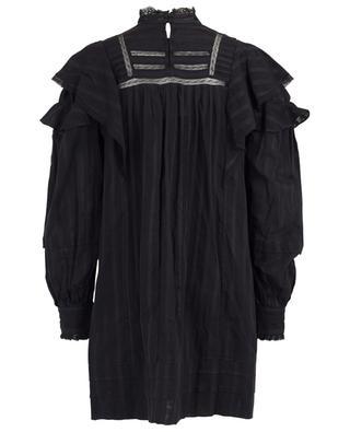 Kurzes A-förmiges Kleid mit Spitze und Rüschen Patsy ISABEL MARANT