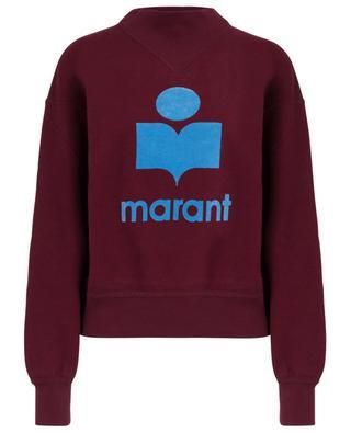 Moby logo adorned cotton blend sweatshirt ISABEL MARANT