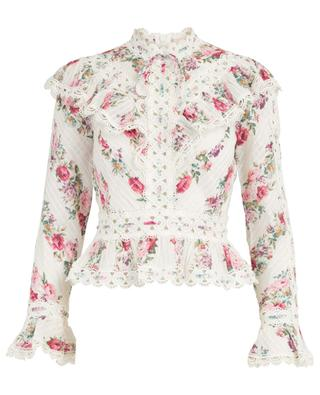 Honour floral cotton blouse with embroideries ZIMMERMANN