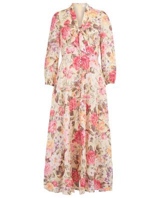 Langes geblümtes Kleid aus Leinen Honour ZIMMERMANN