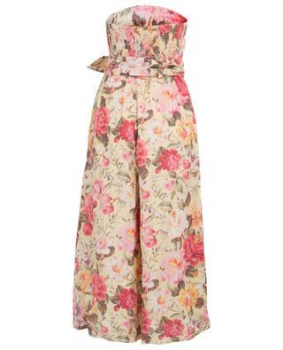 Honour linen floral jumpsuit ZIMMERMANN