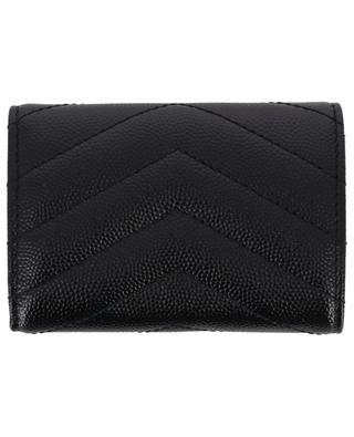 Grain de Poudre embossed leather compact wallet SAINT LAURENT PARIS