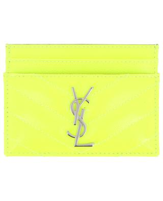 Porte-cartes en cuir fluo Monogram SAINT LAURENT PARIS