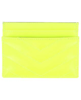 Monogram fluorescent leather card-holder SAINT LAURENT PARIS