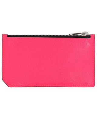 Porte-cartes en cuir grainé fluo Fragments SAINT LAURENT PARIS