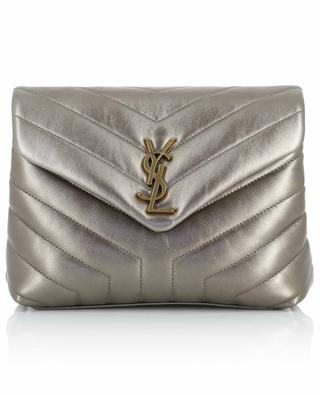 Loulou Small Y-quilted metallic leather bag SAINT LAURENT PARIS