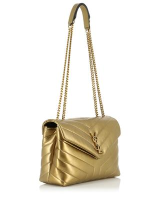 Y-förmig gesteppte Tasche aus Metallic-Leder Loulou Small SAINT LAURENT PARIS