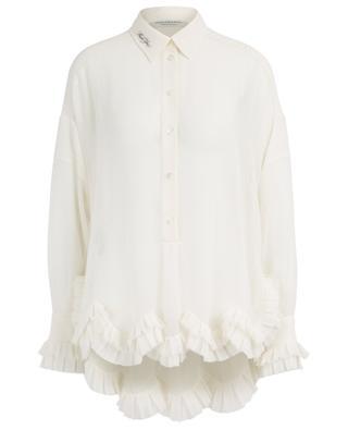 Transparente Overisze-Bluse mit Rüschen Thank You PHILOSOPHY