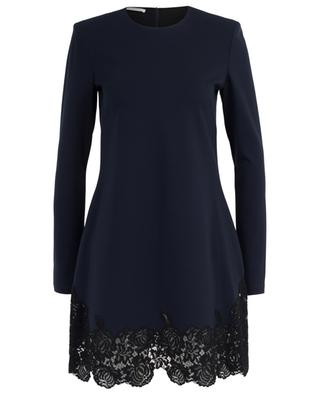 Kurzes A-förmiges Jersey-Kleid mit Spitze PHILOSOPHY