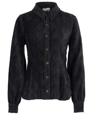 Pleated satin shirt GANNI
