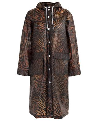 Animal print rain coat GANNI