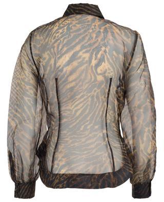 Tiger printed organza shirt GANNI