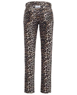 Straight fit leopard print jeans GANNI