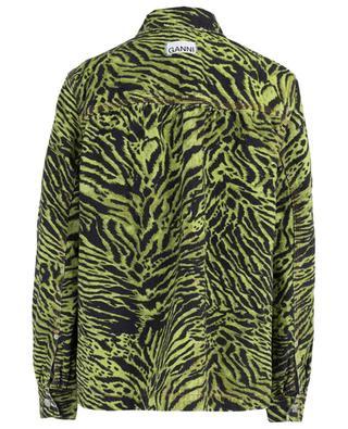Lime Tiger oversize jeans jacket GANNI